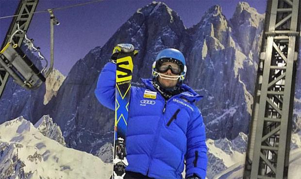 Luca De Aliprandini in der Skihalle von Druskininkai (Foto: Luca De Aliprandini)