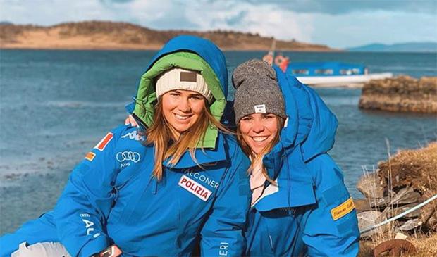 Nadia und Nicol Delago sorgen für Power im azurblauen Damenteam (Foto: © Nadia Delago / Instagram)