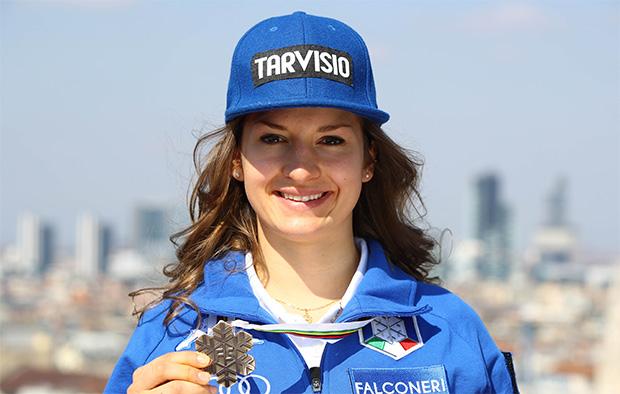 Junioren- Weltmeisterin Lara Della Mea will in die Slalom-Weltspitze (© Archivo FIS/ Alessandro Trovati/pentaphoto)