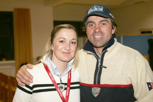 Stefanie Demetz mit Kristian Ghedina (2006) – Foto: Robert Perathoner