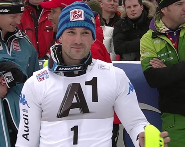 Cristian Deville gewinnt Slalom auf dem Ganslernhang in Kitzbühel
