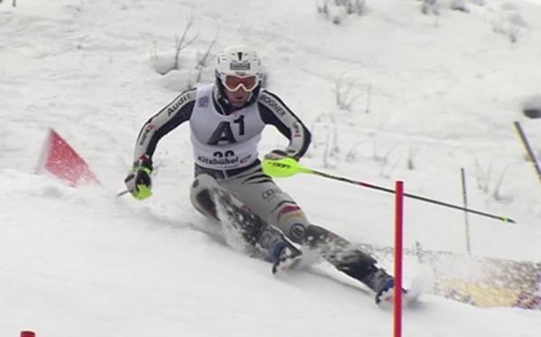 Fritz Dopfer vom SC Garmisch konnte seine gute Form auch in Kitzbühel erneut unter Beweis stellen.