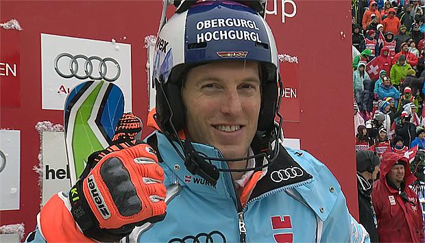 Fritz Dopfer übernimmt Führung beim Slalom von Adelboden