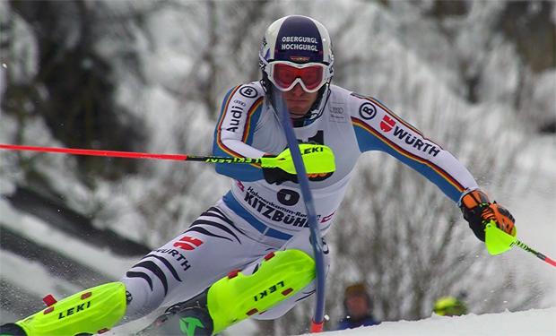 Fritz Dopfer freute sich in Kitzbühel über ersten Podestplatz in der Saison 2015/16