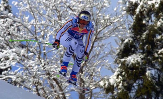 Thomas Dreßen bei der Abfahrt in Kitzbühel