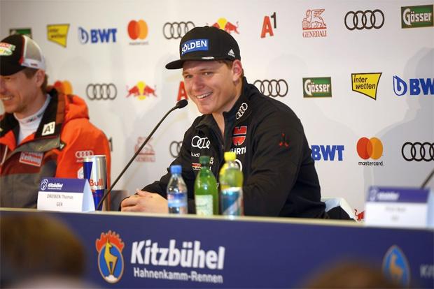Die WM-Hoffnung von Thomas Dreßen lebt (© Hahnenkamm.com)