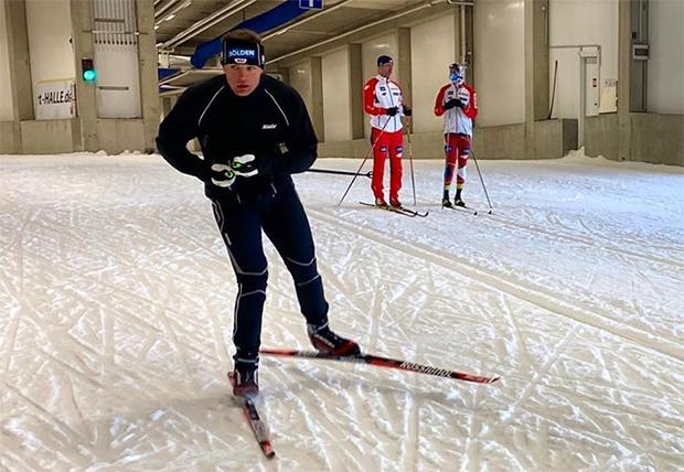 Thomas Dreßen macht auch auf den Langlaufskiern eine gute Figur (Foto: © Thomas Dreßen / Facebook)