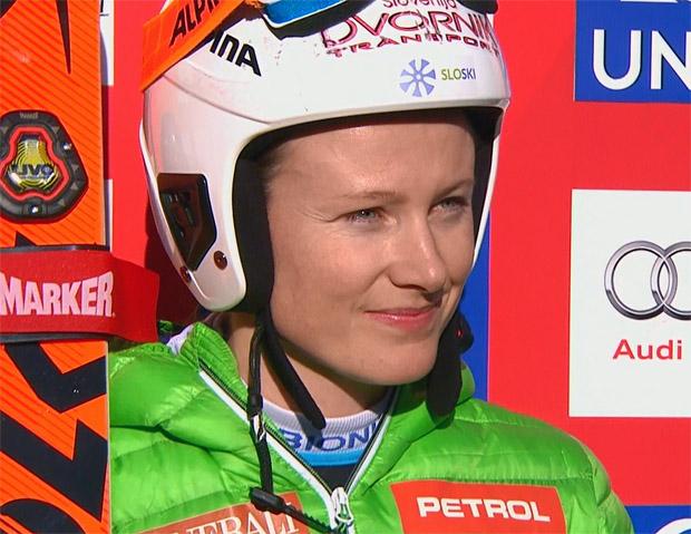 Ana Drev überrascht mit Führung nach dem 1. Riesenslalom-Durchgang in Lienz