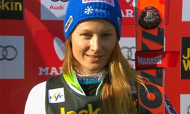 Ana Drev kann sich über eine erfolgreiche Saison freuen.