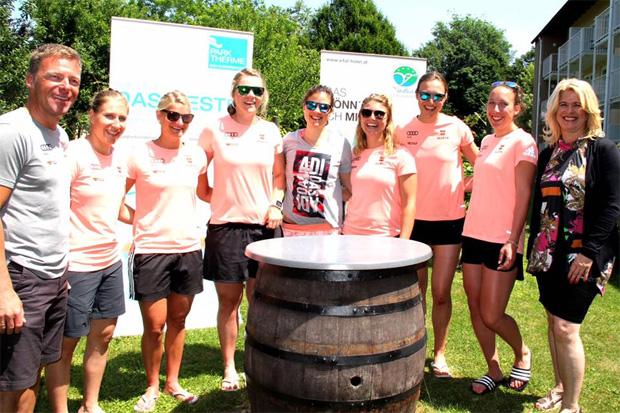 Die Athletinnen rund um Viktoria Rebensburg trainieren fleißig in Bad Radkersburg.  (Foto: Vitalhotel der Parktherme Bad Radkersburg)