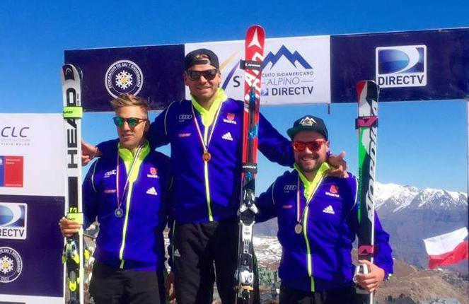 Deutsches Podium im Super G - Josef Ferstl, Andreas Sander und Klaus Brandner (Foto: Deutscher Skiverband / facebook)