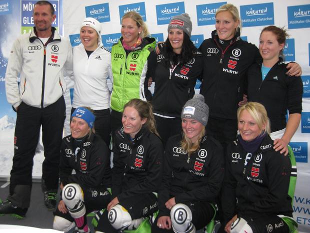 © Walter Schmid (TV-Sport) / Das Weltcupteam der deutschen Damen