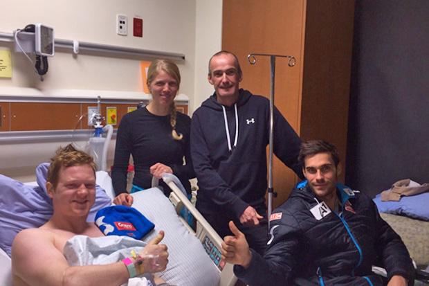 Markus Dürager konnte am Samstag das Krankenhaus verlassen. Teamkollege Thomas Mayrpeter ist bereits zuhause und wurde in Hochrum am verletzten rechten Knie operiert. (Foto:ÖSV)