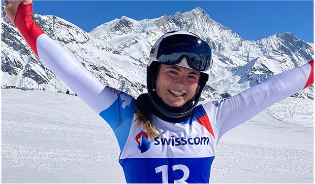 Delia Durrer schnappt sich bei den Schweizer Meisterschaften auch die Super-G-Goldmedaille (Foto: © Swiss-Ski.ch)