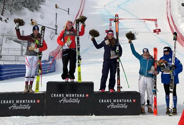 Christine Scheyer, Ariane Rädler, Priska Nufer, Martina Rettenwender und Federica Soiso (Foto: ÖSV)