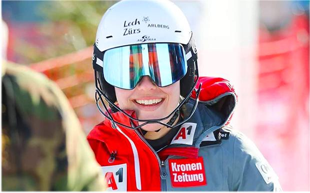 """Magdalena Egger im Skiweltcup.TV-Interview: """"Ein Olympia-Startplatz in Peking wäre eine Überraschung!"""" (Foto: © Robert Roschmann)"""
