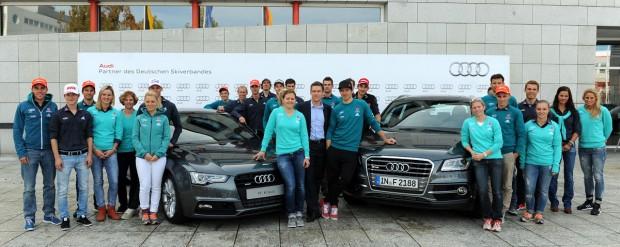 © Ch. Einecke (CEPIX) / Die Athleten des Deutschen Skiverbands (DSV) haben heute in Künzelsau ihre neuen Dienstwagen in Empfang genommen.