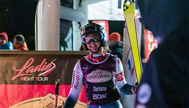 Französin Doriane Escane gewinnt EC-Riesentorlauf in Krvavec (Foto: © Doriane Escane / Instagram)