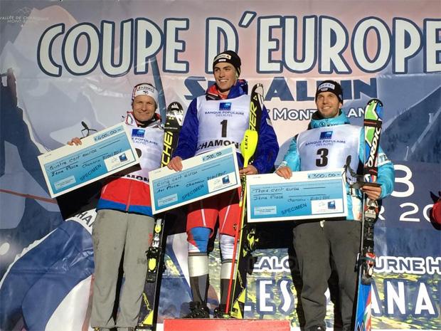 © Caroline Fischer / Europacup Nachtslalom in Chamonix: Julien Lizeroux, Daniel Yule, Dominik Stehle