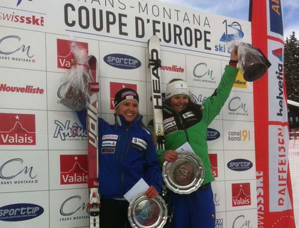 Foto: Crans-Montana / In diesem Winter finden in der Schweiz so viele Europacuprennen wie schon lange nicht mehr statt. Das kommt dem Nachwuchs zugute