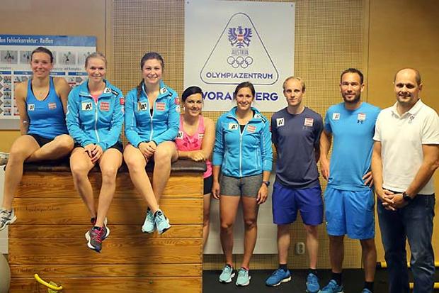 Die Damen der Europacup-Gruppe 3 trainierten zuletzt im Olympiazentrum in Vorarlberg. (Foto: ÖSV)