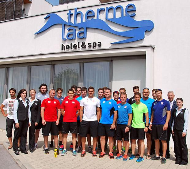 In der Therme Laa fanden die Europacup-Herren perfekte Trainingsbedingungen vor. (Foto: Therme Laa)
