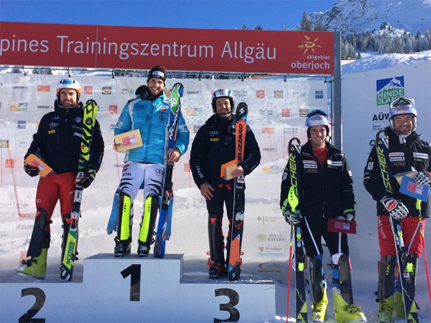 © Caroline Fischer / Dominik Stehle gewinnt Europacup-Slalom am Oberjoch