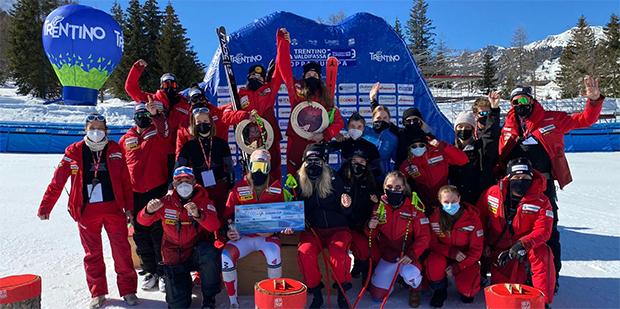 Jasmina Suter gewinnt 1. EC-Super-G im Fassatal (Foto: © Swiss-Ski.ch)