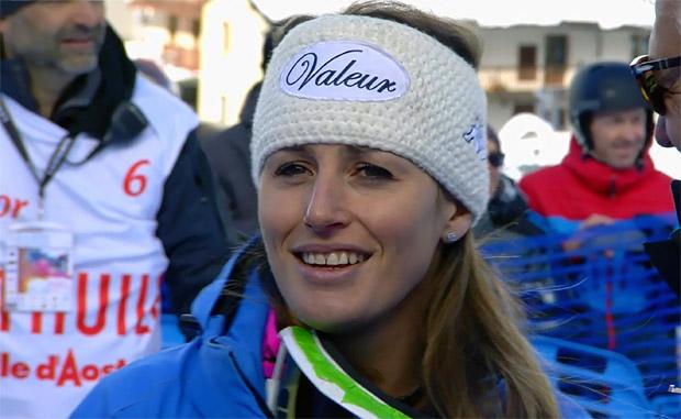 Nadia Fanchini freut sich über Heimsieg in La Thuile