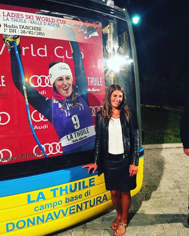 "Nadia Fanchini ist stolz auf ""ihre"" Kabine (Foto: Nadia Fanchini / Facebook)"