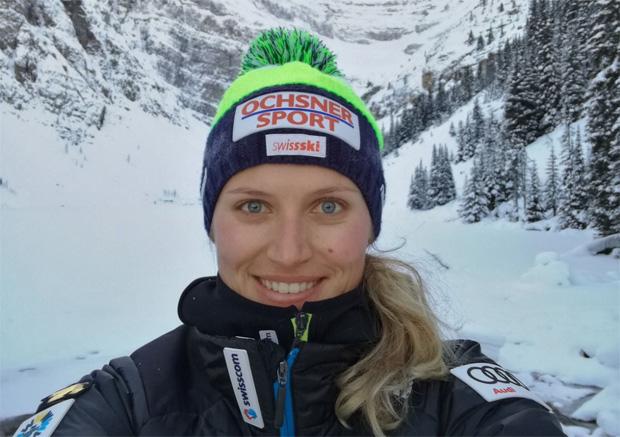 """Denise Feierabend im Skiweltcup.TV-Interview: """"Gegen eine Olympiamedaille 2018 hätte ich nichts einzuwenden!"""" (Foto: Denise Feierabend / privat)"""