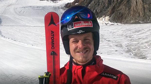 Auch Manuel Feller freute sich über die Trainingsbedingungen auf dem Pitztaler Gletscher