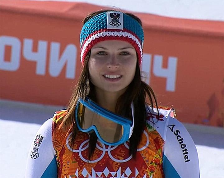 Greift Anna Fenninger auch beim Riesenslalom nach einer Medaille?