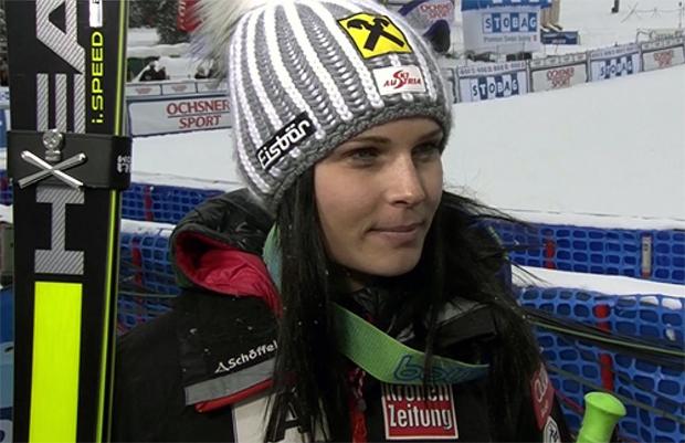 Anna Fenninger war auch im zweiten der drei Lake Louise Klassiker beste Österreicherin.