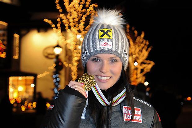 Nach Olympiagold im Super-G eroberte die Salzburgerin auch WM-Gold in dieser Disziplin. (Foto: ÖSV/Erich Spiess)