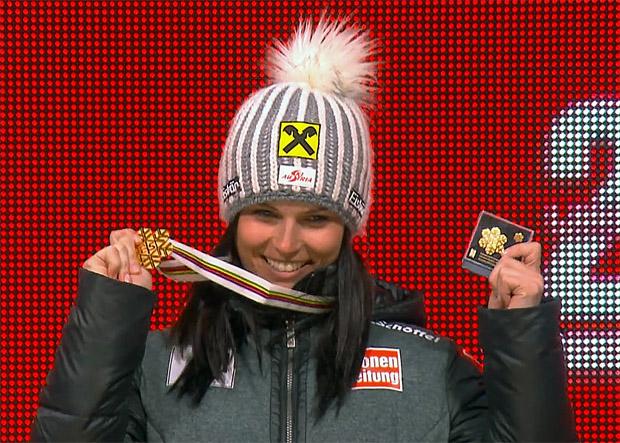 Doppel-Weltmeisterin Fenninger