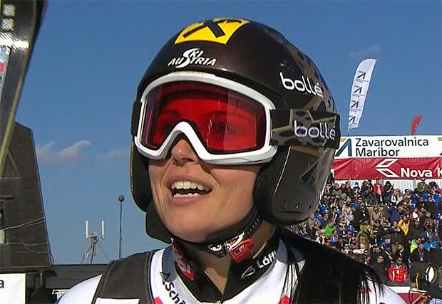Anna Fenninger (AUT) gewinnt Riesenslalom in Maribor