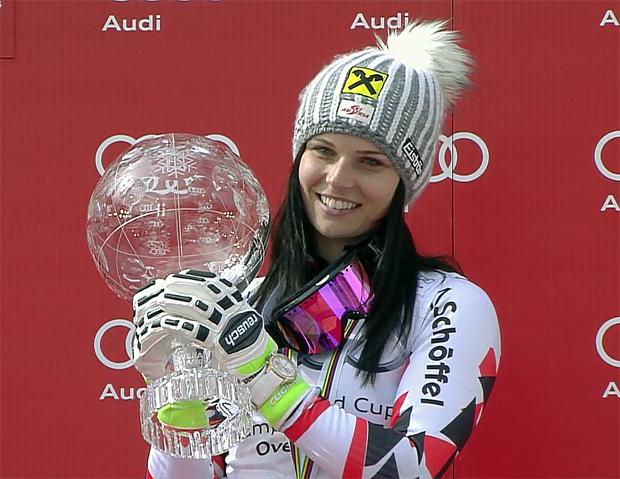 Gesamtweltcupsiegerin Anna Fenninger (AUT)