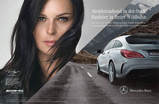 © Mercedes Benz Österreich / Der neue CLA 45 AMG Shooting Brake – Raubtier genug, um es mit Anna Fenninger aufzunehmen.