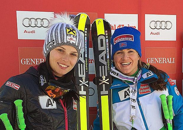© ÖSV /  Anna Fenninger und Elisabeth Görgl