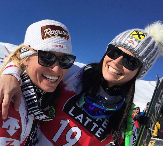 © ÖSV Ladies Skiteam Austria / Lara Gut freut sich über einige gute Freundinnen im Ski-Weltcupzirkus