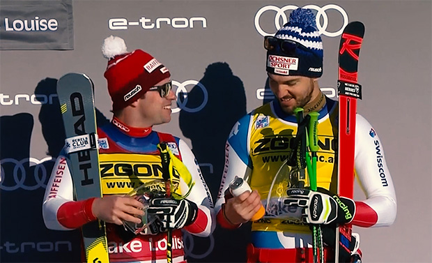 Beat Feuz und Carlo Janka klettern in Lake Louise aufs Podest