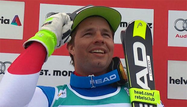 Beat Feuz gewinnt Abfahrt in St. Moritz
