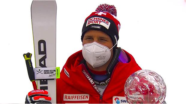 Beat Feuz ist Abfahrts-Weltcupsieger der Saison 2020/21 und gewinnt die vierte Abfahrtskristallkugel in Folge