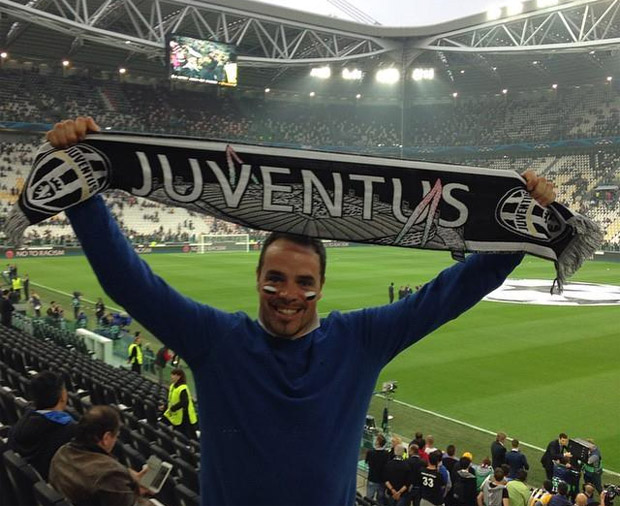 © facebook privat Peter Fill: Juve-Fan Peter Fill feiert 2:1-Sieg gegen Real Madrid