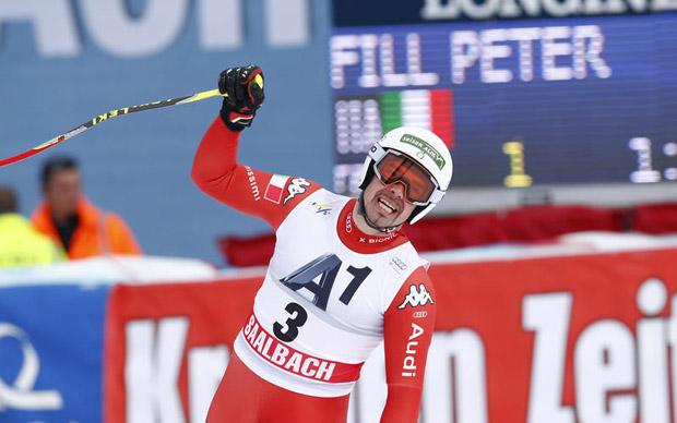 Archivio FISI: SKI WORLD CUP 2014/2015 - men's World Cup Downhill   - Peter Fill (ITA)     -  Saalbach, Austria, Saturday, Feb. 21, 2015. (Gio Auletta/Pentaphoto)
