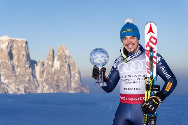 """© Helmuth Rier/www.fotorier.it / Peter Fill im skiweltcup.tv-Interview: """"Auch mein Sohn Leon ist heiß auf die Kugel!"""""""
