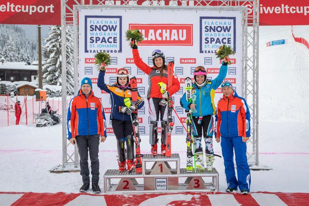 Marie-Therese Sporer gewinnt FIS-Slalom in Flachau (Fotocredit: Skiweltcup Flachau/Christian Fischbacher)