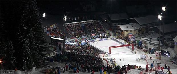 Skiweltcup Damen Nachtslalom in Flachau