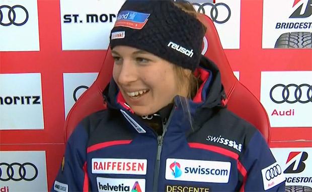 Jasmine Flury steht vor Sensationserfolg im Super-G von St. Moritz